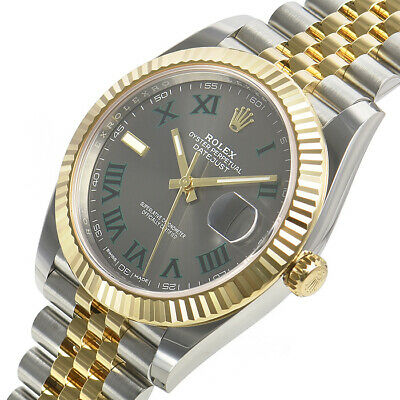 $ CDN18083.23 • Buy Rolex Datejust 41mm 126333 Steel Yellow Gold Jubilee Green Roman Dial Watch Auto