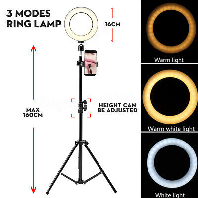 AU28.21 • Buy Dimmable LED Ring Light Video & Adjusted 160cm Tripod Stand For Makeup Youtube