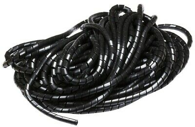 Spiral Wrap Black Natural Flexible Cable Tidy Tube Trunking Wire Loom Management • 2.59£