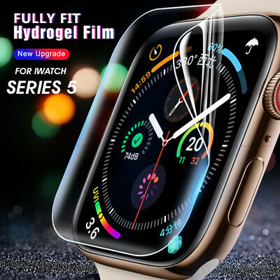 $ CDN2.27 • Buy Screen Protector For Apple Watch Series 5 40MM 44MM Full Cover Soft Hydrogel US