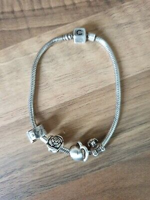 Chamilla Braclet Plus 4 Charms - Sterling Silver • 40£