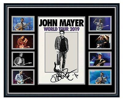 AU99.99 • Buy John Mayer 2019 Australia Tour Signed Limited Edition Framed Memorabilia