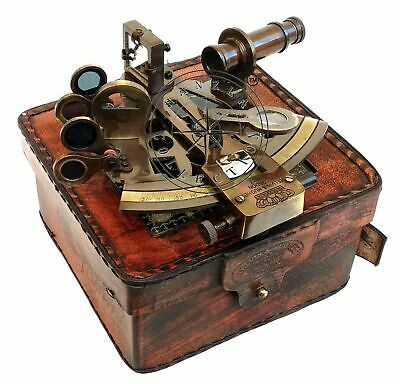 $ CDN50 • Buy RARE NEW Brass Sextant Nautical Brass Sextant Working Marine Vintage/Leather Box