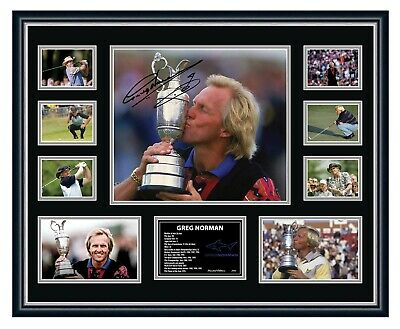 AU99.99 • Buy Greg Norman 'the Shark' Signed Limited Edition Framed Memorabilia