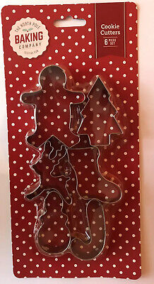 Christmas Cookie Cutters Ideal Baking With Kids Fondant Cakes Biscuits  X 6 • 3.99£
