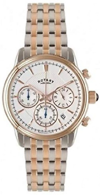 Rotary Men's Quartz Watch With White Dial Chronograph Display And Rose Gold Plat • 199£