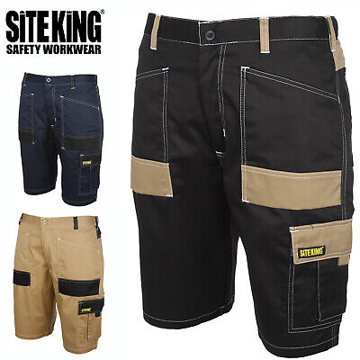 £17.99 • Buy Mens Contrast Elasticated Work Shorts With Holster Pockets By SITE KING - 013