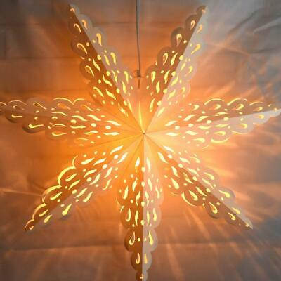 32  Large Winter Holiday Spirit Snowflake Paper Star Lantern, Hanging Decoration • 13.09$