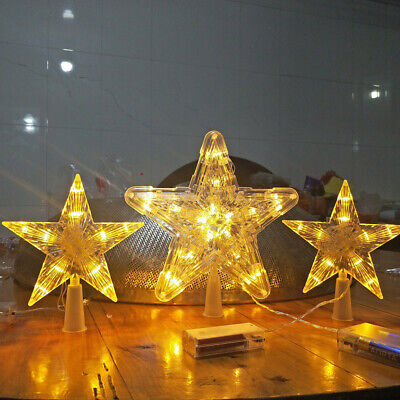 $10.99 • Buy US LED Indoor Outdoor Christmas Tree Topper Star Lights Lamp Xmas Decoration