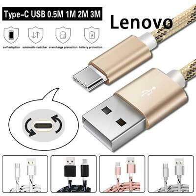 AU5.49 • Buy 0.5M-3M Braided Type C USB-C Data Sync Charging Charger Cable For Lenovo Tablet