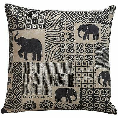 Tribal Patchwork Elephant Cushion. Double Sided. 17x17 . African Ethnic Style. • 9.99£