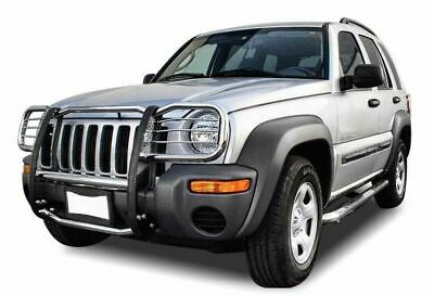$514.47 • Buy Black Horse Fit 02-07 Jeep Liberty Stainless Grille Bumper Brush Guard 17EH26MSS