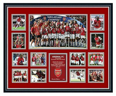 AU99.99 • Buy Arsenal Fc The Invincibles 2004 Thierry Henry Bergkamp Signed Framed Memorabilia