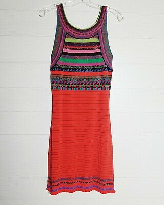 $ CDN98.50 • Buy Anthropologie Aldomartins Sz Medium Alice Striped Ethnic Knit Textured Dress