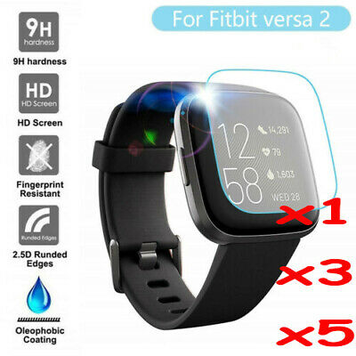 $ CDN3.71 • Buy For Fitbit Versa 2/Versa Screen Protector 9H Tempered Full Coverage Glass Guard