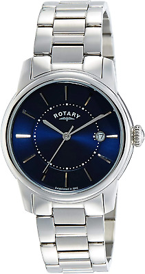 Rotary Men's Quartz Watch With White Dial Chronograph Display And Silver Stainle • 158£