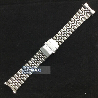 $ CDN41.39 • Buy LUG 22mm CURVED STAINLESS STEEL BRACELET Clasp FIT S EIKO SKX007 SKX009