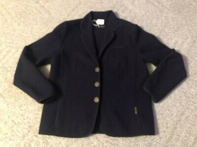 $38.99 • Buy Geiger Tyrol Womens Dark Blue Jacket Coat Size 42 Pure Wool Made In Austria