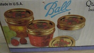 Ball 12-4 Oz Quilted Crystal Jelly Jars With Bands Decorative Lids & Jar Labels • 40$