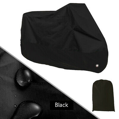 £11.56 • Buy Full Black Motorcycle Scooter Cover Waterproof UV Dust Rain Protector Shelter