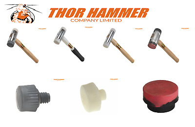 £13.49 • Buy THOR  NYLON  FACED  HAMMER GLAZING WINDOW MALLET 32mm - 63mm + REPLACEMENT HEADS