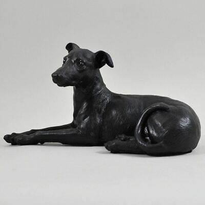 £22.95 • Buy Large Greyhound Dog Painted Bronze Resin Sculpture Pet Gifts Home Decor 21cm