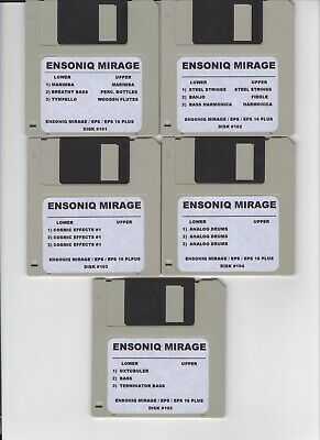 $325 • Buy Ensoniq Mirage (105) Disk Library! Works With Eps / Eps16+ 8 Bit Gritty Drums!!