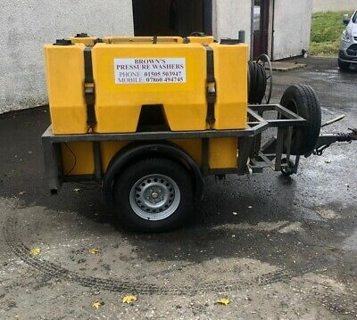 Used Dirt Driver NDHM30ST Trailer Bowser Hot Pressure Washer • 11,400£
