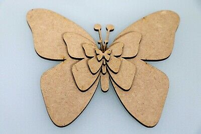 Wooden MDF Butterfly Wall Art Shapes Bunting Crafts Animal Decorate Yourself • 1.09£