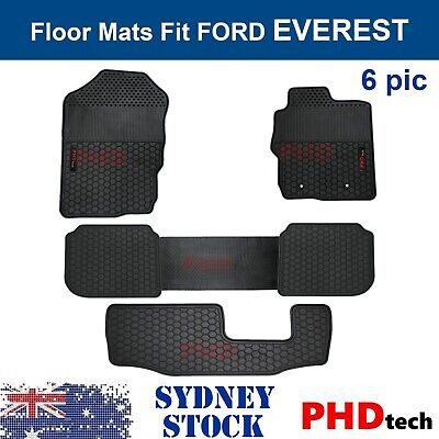AU99 • Buy Prime Quality Rubber All Weather Floor Mats Liners Fit Ford EVEREST 2015-2020