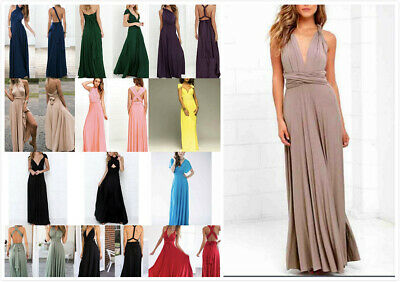 AU24.99 • Buy Au Stock Retro Rockabilly Party Covertible Multiple Style Maxi Dress Dr023