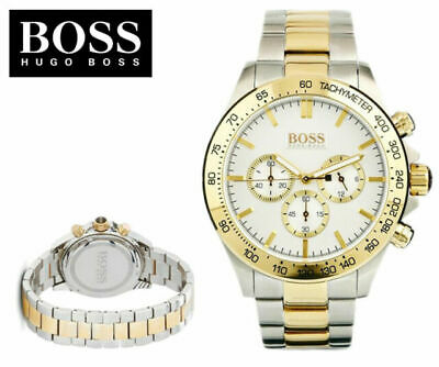 Hugo Boss HB1512960 Ikon Two Tone Bracelet Chronograph Men's Watch - BNWT • 99.48£