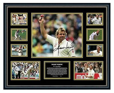 AU99.99 • Buy Shane Warne Signed Limited Edition Framed Memorabilia