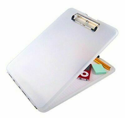 New-clear A4 Plastic Compact Clipboard Paper Storage Box File Durable Waterproof • 4.04£