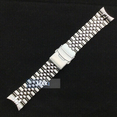 $ CDN76.56 • Buy LUG 22mm CURVED OYSTER STAINLESS STEEL BRACELET Clasp FIT S EIKO SKX007 SKX009