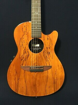 AU252 • Buy 38  Haze 836CEQGC Round-back Acoustic/Classical Guitar,Spalted Maple Graphic Top