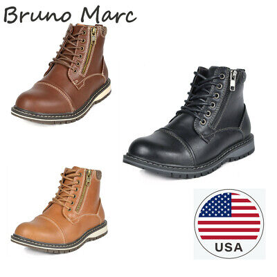 $9.50 • Buy Bruno Marc Kids Boys Motorcycle Leather Chukka Boots Oxford Dress Ankle Boots