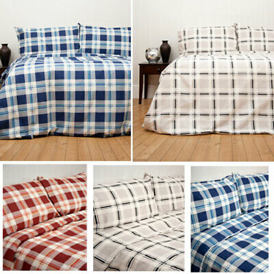 £25 • Buy Chelsea Checked Duvet Cover Set - Single/Double/King - Choice Of Colours