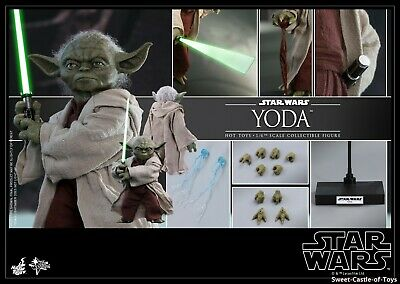 $209.95 • Buy 1/6 Hot Toys Star Wars Episode II Attack Of The Clones Master Yoda Figure MMS495