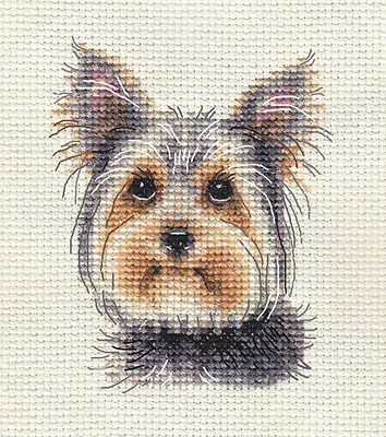 YORKSHIRE TERRIER PUPPY, Dog ~ Full Counted Cross Stitch Kit  *FIDO STUDIO • 8.95£