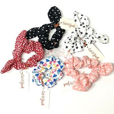 Cat & Jack Elastic Bow Scrunchies Hair Accessories Set - Lot Of 5 - USA Seller • 11.95$