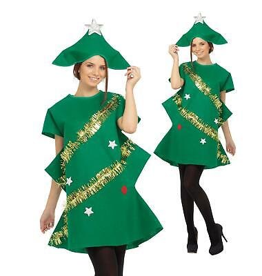 Adult Christmas Tree Costume Ladies Novelty Xmas Tree Outfit Fancy Dress • 13.48£