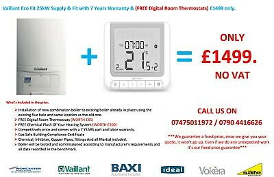 Vaillant Ecofit Pure Combi Boiler 825 / 830 Supply & Fitted & FREE Digital Stat. • 1,599£