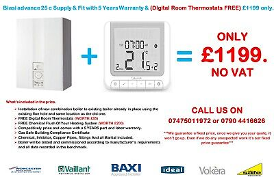 Biasi Advance 25c Combi Boiler 25  /30 / 35 Supply & Fitted & FREE Digital Stat. • 1,099£