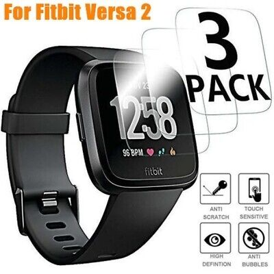 $ CDN3.30 • Buy 3Pack For Fitbit Versa 2  Premium 9H Tempered Glass Screen Protector Saver Film