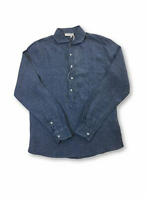 Gran Sasso Linen Tunic Style Shirt In Blue XS • 28.99£
