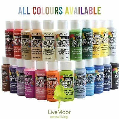 DecoArt Crafters Acrylic Paint 2oz, 59ml Pots - All Colours - BUY 5, GET 5 FREE! • 4.25£