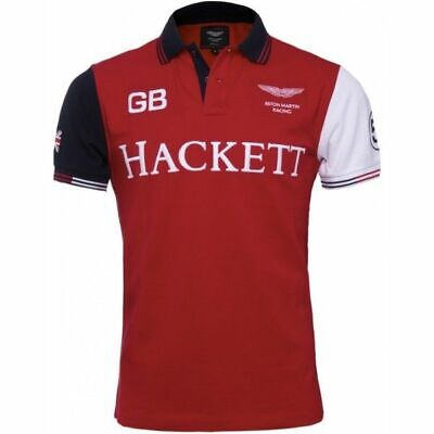 Hackett Aston Martin Racing Red Polo Shirt Brand New Sealed Packet Free UK SHIP • 50£