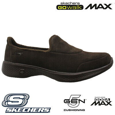 Ladies Skechers Go Walk Goga Max Fleece Lightweight Slippers Shoes Trainers Size • 29.95£