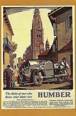 £1.99 • Buy Nostalgia Postcard 1932 The Humber Snipe Saloon Advertisement Repro Card NS6